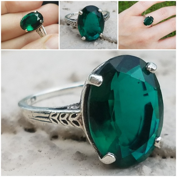 Jewelry Emerald Sterling Silver 925 Ring Simple Design Poshmark
